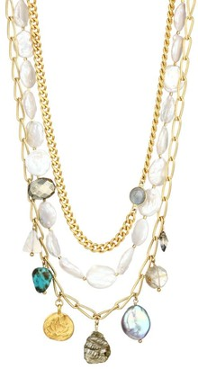 Chan Luu 13-14MM Mixed Freshwater Pearl And Gemstone Necklace