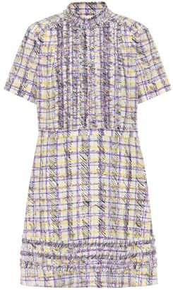 Burberry Scribble Check silk minidress
