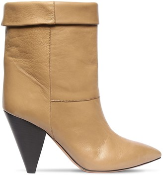 Isabel Marant 90mm Luido Leather Ankle Boots
