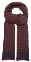 Begg & Co. - Beaufort Striped Wool Blend Scarf - Mens - Navy Multi