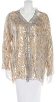 Shamask Metallic Silk Blouse w/ Tags