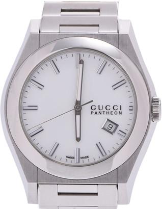 Gucci White Stainless Steel Pantheon 115.2 Men's Wristwatch 43 MM