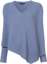 Derek Lam v-neck oversized jumper - women - Silk/Cashmere - XS