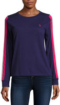 U.S. Polo Assn. Long Sleeve Crew Neck T-Shirt-Womens