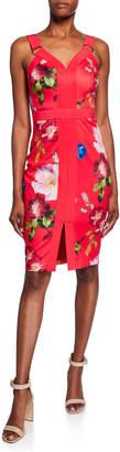 Ted Baker Berry Sundae Floral-Print Sleeveless Body-Con Dress