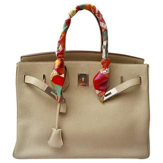 Hermes Birkin 35 Ecru Leather Handbags