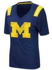 Colosseum Women's Michigan Wolverines Rock Paper Scissors T-Shirt