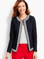 Talbots Tipped Basket-Weave Jacket