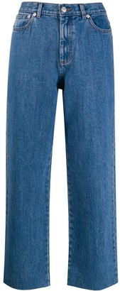 A.P.C. Cropped Straight Leg Jeans