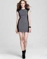 Derek Lam 10 Crosby Short Dress - Cap Sleeve Color Block