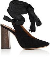Chloé Women's Harper Suede Ankle-Tie Pumps