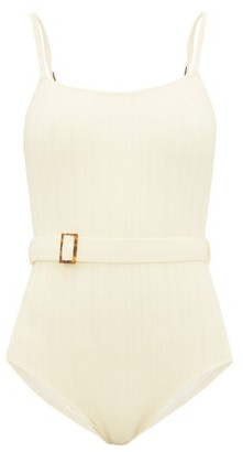 Solid & Striped The Nina Belted Swimsuit - Cream