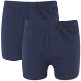 Wolsey Twin Pack Jersey Boxer Shorts Navy