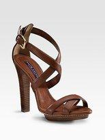 Ralph Lauren Collection Pasha Crisscross Sandals