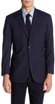 Brooks Brothers Dark Blue Plaid Two Button Notch Lapel Wool Jacket