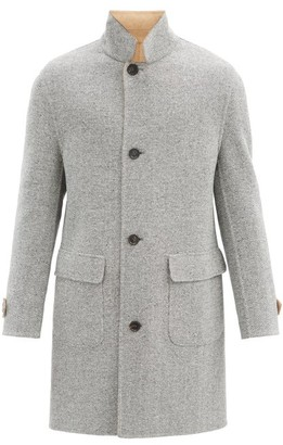 Brunello Cucinelli Reversible Herringbone Wool-blend Coat - Grey Multi