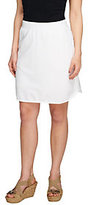 As Is Denim & Co. Active French Terry Curved Hem Skort