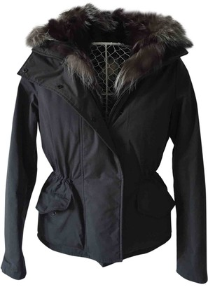 Hogan Grey Fur Coat for Women
