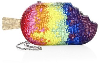 Judith Leiber Couture Rainbow Popsicle Crystal Clutch