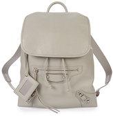 Balenciaga Metallic Edge Traveler Backpack, Light Gray