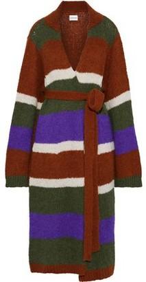 Antik Batik Gina Belted Color-block Alpaca-blend Cardigan