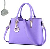 Micom Gold Metal Pendant Pu Leather Tote Bags Shoulder Handbags for Women,girls