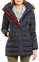 Vince Camuto Down Coat with Faux-Fur Trim Hood