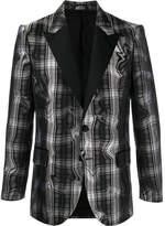 Neil Barrett distorted check blazer