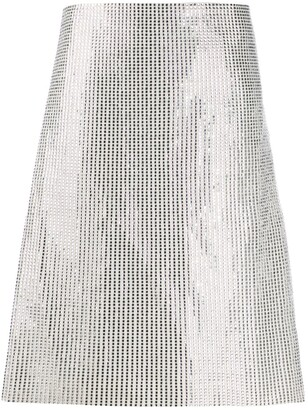 Bottega Veneta A-line embellished skirt
