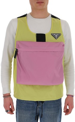 Prada Sleeveless Front Pocket Jacket