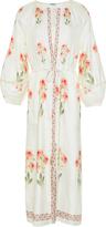 Vilshenko Penny Raw Silk Midi Dress
