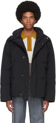 Acne Studios Black Down Hooded Jacket