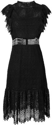Philosophy di Lorenzo Serafini short sleeve lace dress