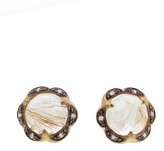 Cathy Waterman Rutilated Quartz Scalloped Stud Earrings