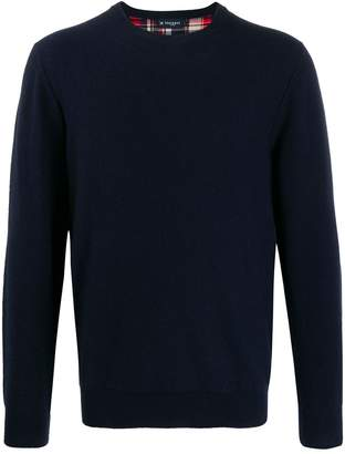 Hackett plain crew-neck jumper