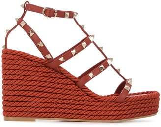 Valentino Rockstud 110mm wedge sandals