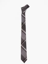 Thom Browne Grey Checked Wool Tie