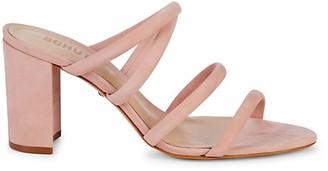 Schutz Felisa Suede Block-Heel Sandals
