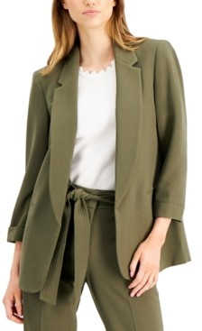 Bar III 3/4-Sleeve Open-Front Blazer, Created for Macy's