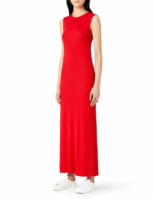 Meraki Amazon Brand Women's Slim Fit Rib Summer Maxi Dress