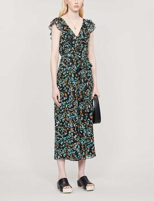 Whistles Forest floral-print crepe jumpsuit