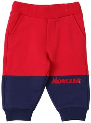 Moncler Printed Color Block Cotton Sweatpants