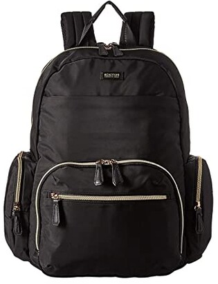 Kenneth Cole Reaction Nylon RFID Laptop Computer Backpack (Black) Backpack Bags