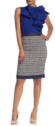 Gracia Denim Trim Tweed Skirt