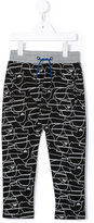 Armani Junior printed track pants