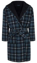 George Blue Checked Dressing Gown