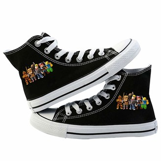 Fnqkmlep Roblox Shoes Shoes Youth Campus Style Canvas Shoes Student Trend Wild Style Simple Adult Sports Shoes Casual Fashion Unisex (Color : Black05 Size : EU36 US5.5)