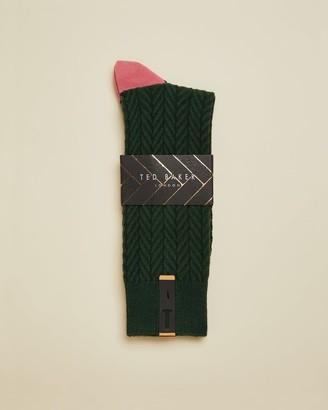 Ted Baker Semi Plain Cotton Socks