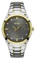 Seiko Mens Dress Sport Two-Tone Stainless Steel Bracelet Solar Watch