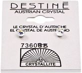 Crystallite Destine Aurora Borealis Faceted Ball Earring